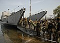 US Navy 090414-N-9520G-097 Marines from the 31st Marine Expeditionary Unit (31st MEU) embarked aboard the amphibious assault ship USS Essex (LHD 2) disembark Landing Craft Utility (LCU) 1627.jpg