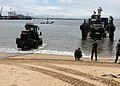 US Navy 091017-M-8332M-036 Seabees and equipment assigned to Naval Mobile Construction Battalion (NMCB) 3, based in Rota, Spain, are transported to shore in Monrovia, Liberia.jpg
