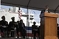 US Navy 091107-N-5549O-120 Secretary of the Navy (SECNAV) the Honorable Ray Mabus addresses guests during the commissioning ceremony for the amphibious transport dock ship USS New York (LPD 21).jpg