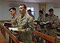 US Navy 091111-M-0590P-003 Service members at the base chapel at Al Asad Air Base.jpg