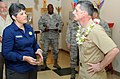 US Navy 100330-N-3666S-002 Vice Adm. Michael Vitale speaks with Kawehi Harano uring a tour of Joint Base Pearl Harbor-Hickam.jpg