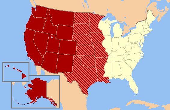 US map-West