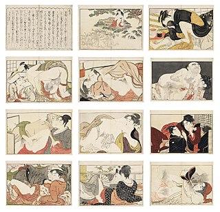 <i>Utamakura</i> (Utamaro) series of ukiyo-e prints designed by the Japanese artist Utamaro