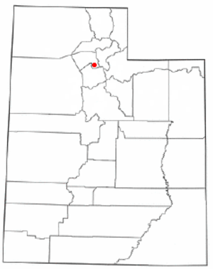 Woods Cross, Utah - Image: UT Map doton Woods Cross