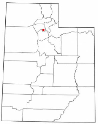 Woods Cross, Utah - Image: UT Map doton Woods Cross