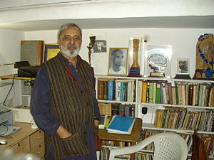 U. R. Ananthamurthy - U R Ananthamurthy in his reading room