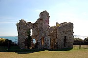 The ruins of the 16th century Sandsfoot Castle