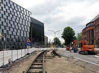Umbau der Werthmannstraße und des Platzes der Universität in Freiburg für die Stadtbahn mit UB.jpg