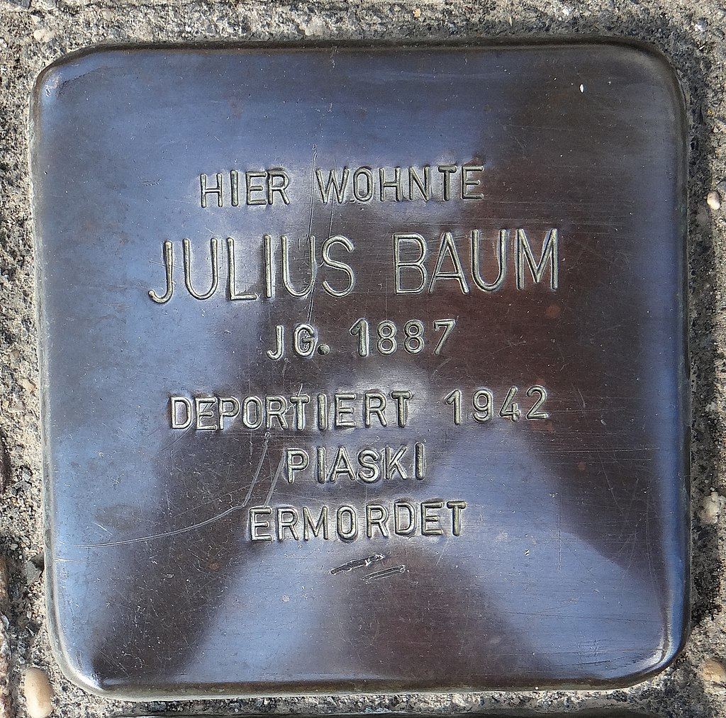 Undenheim Stolperstein Staatsrat-Schwamb-Straße 74 Julius Baum.jpg