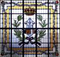 Universidad Politécnica de Madrid (RPS 14-02-2018) Escuela de Ingenieros Industriales, logotipo en vidriera.png