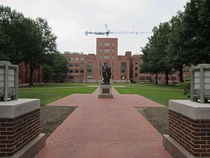 George Washington University - University Yard is GW's largest open space.