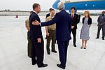 Upon Arrival in Japan, Secretary Kerry Introduces a U.S. Navy Fighter Pilot to Marine Corps Officers (25734862793).jpg