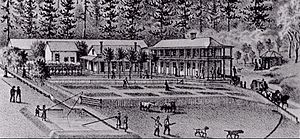 Upper Soda Springs - Engraving of the Upper Soda Springs Resort, circa 1875-1880