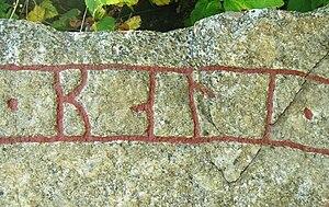 Balle (runemaster) - Signature of Balle on runestone U 873 in Örsunda.