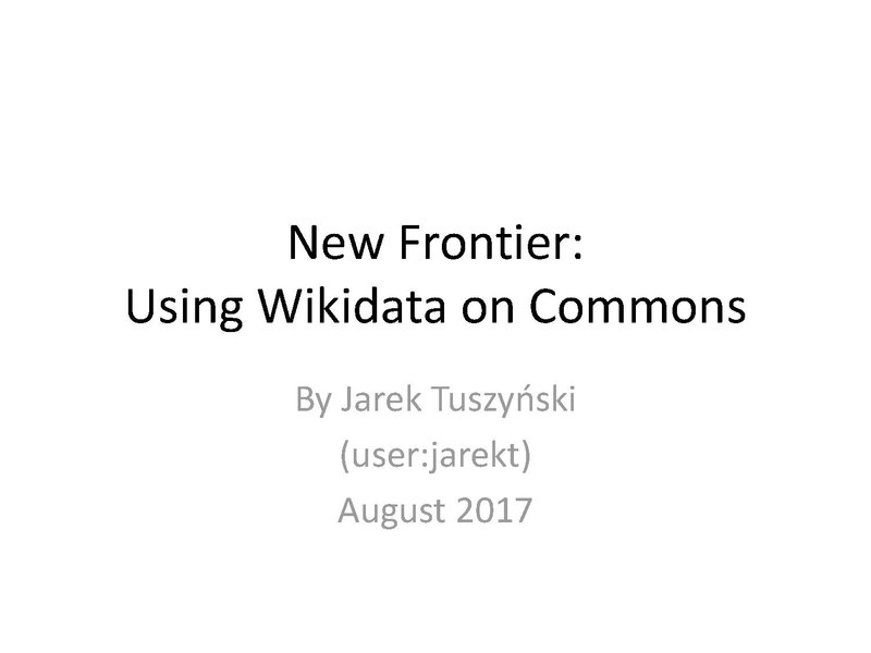 File:Using Wikidata on Commons - August 2017.pdf