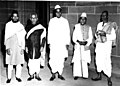 Ustad Mushtaq Hussain Khan with Three Distinguished Indian Musicians.jpg