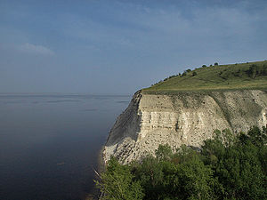 Volgograd Reservoir - Stepan Razin Cliff