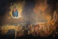 Vœu des habitants de Rennes à Notre-Dame-de-Bonne-Nouvelle, tableau de la basilique Saint-sauveur après sa restauration en 2013 (Rennes, France).jpg