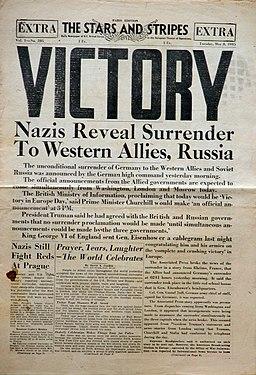 V-E-Day Stars and Stripes No 285 Paris 8 May 1945
