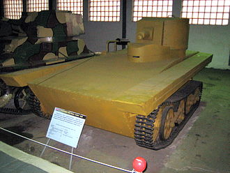 T-37A tank - The Vickers-Carden-Loyd floating tank.