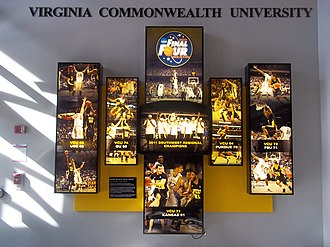Siegel Center - Final Four display on the concourse of the Siegel Center, commemorating VCU's 2011 NCAA Tournament run.