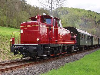 Dampfbahn Fränkische Schweiz - Image: V 60 114 a