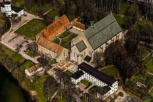 Religion in Sweden - The historical Vadstena Abbey of the Catholic order of the Bridgettines, founded by Bridget of Sweden.