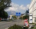 Vaduz Liechtenstein Ortsbeginn auf Hauptstrasse (Süd).jpg