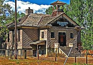 Valmont, Colorado - Valmont School, built in 1911 (2010 photo)