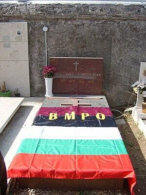 Ivan Mihailov - Mihailov's grave in Rome, Italy