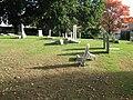 Vandalism at Hildreth Cemetery Oct 4 2009.jpg