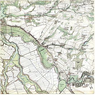 Billwerder - The area of Billwerder in 1790