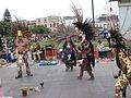 Varias personas bailando la danza tradicional de la India.JPG