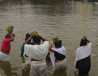 Religion in Kerala - Vavu Bali ceremony honoring the deceased in the Malayalam month of Karkadakam