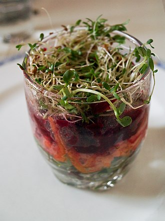 Sprouting - Sprouts used for a verrine.
