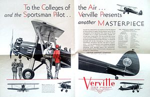 Verville Sport Trainer AT - Advertisement for the Verville Sport Trainer AT