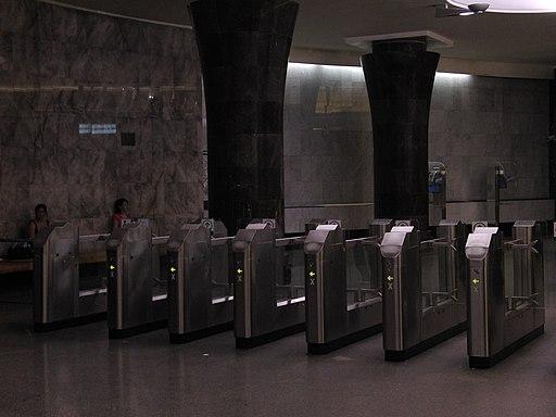 Vestibule of Mayakovskaya station, turnstiles (Вестибюль станции Маяковская, турникеты) (4830568909)