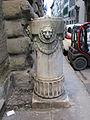 Via ghibellina, palazzo borghese, paracarro marmoreo 01.JPG