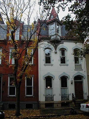 English: Victorian-era row houses