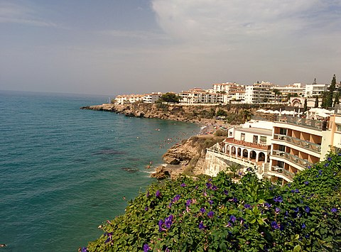 View from Balcon de Europa in Nerja Spain