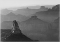 "View with rock formation in foreground, ""Grand Canyon National Park,"" Arizona., 1933 - 1942 - NARA - 519881.tif"