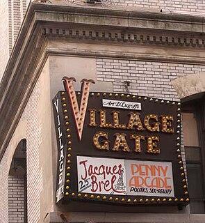 Village Gate former jazz club in New York City