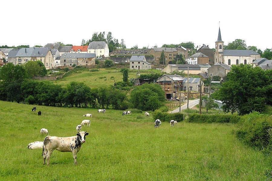 Villers-la-Loue (Belgium), the village in the springtime.