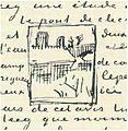 Vincent van Gogh - Detail of letter 589 (LT 471) with the sketch of the Pont de Clichy.jpg