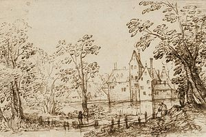 David Vinckboons - Image: Vinckboons Landscape with buildings