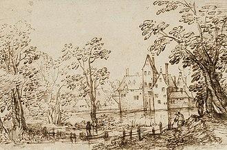David Vinckboons - Image: Vinckboons Landscape with buildings