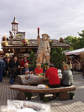 Cannstatter Volksfest - Alpine Village in 2008