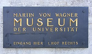 Martin von Wagner Museum - Sign of the Museum