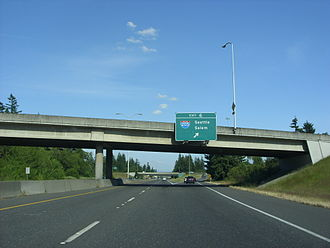 Washington State Route 14 - SR 14 at its interchange with I-205, built in the 1970s