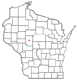 Location of Greenwood, Wisconsin